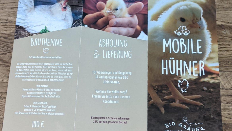 Mobile Hühner (Hühnervermietung)
